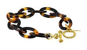 gold tone chain link bracelet images Lorren bell tokyo false tortoise shell medium chain link bracelet jpg