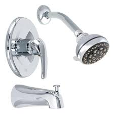 Low Water Pressure In Bathtub Only Delta Bathtub Faucets Bathroom Faucets The Home Depot