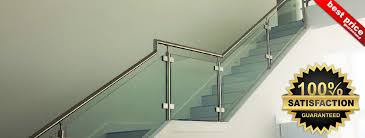 Glass Stair Banister Stainless Steel Stair Parts Modern Stair Railing Components