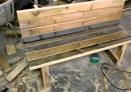 garden bench from reclaimed wood by mid ga outdoor u2013 woodwork