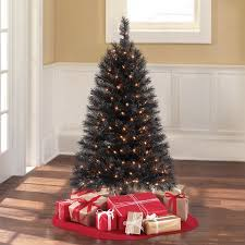 time pre lit 4 indiana spruce black artificial tree