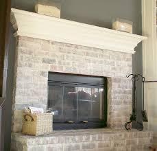 interior how to white wash brick whitewashing brick fireplace