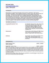 Sql Server Developer Resume Examples by How Professional Database Developer Resume Must Be Written