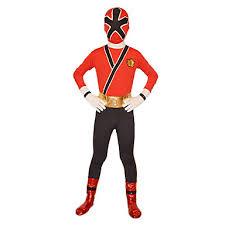 Samurai Halloween Costume Cosplay Costume Zentai Suit Power Super Hero Rangers Samurai Red