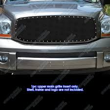 2007 dodge ram grille 2006 2008 dodge ram stainless steel rivet studded black mesh
