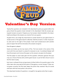 valentine u0027s day family feud printable game classroom