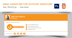email signature templates outlook 28 images 10 free email