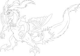 pokemon coloring pages white kyurem another white kyurem line art by chickenbusiness on deviantart