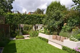 Family Garden Design Lovely Low Maintenance Family Garden With Raised Bed For Herbs