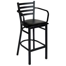 ladderback bar stools ladder back metal bar stool with arms home devotee