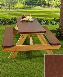 vinyl picnic table and bench covers the 3 pc textured picnic table covers protect your table and
