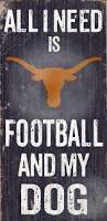 officially licensed texas football and dog sign texas longhorns
