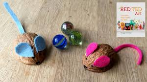 how to make walnut mice cute crafts for kids youtube