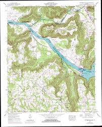 United States Topographical Map by Guntersville Dam Topographic Map Al Usgs Topo Quad 34086d4