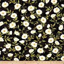 Poppy Home Decor by Poppy Celebration Poppies All Over Ivory Black Discount Designer