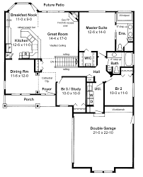 house plans with open floor plan ranch style open floor plan floor plans aflfpw17669 1 story
