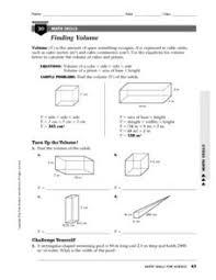 finding volume density 7th 12th grade worksheet lesson planet