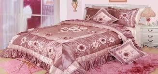 Purple Ruffle Comforter Dada Bedding Floral Dusty Rose Pink Romantic Bordered Embellished