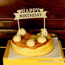 aliexpress com buy gold silver glitter happy birthday cake