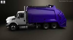 international workstar garbage truck rolloffcon 3axle 2008 by 3d