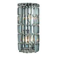 Crystal Wall Sconces by Elegant Lighting Sconces Bathroom Lighting The Home Depot