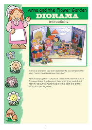 anna and the flower garden diorama instructions