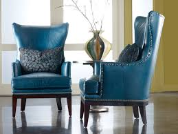 Blue Leather Chair Leather Charlton Furniture