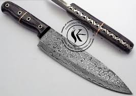 damascus steel kitchen knives 11 25 custom made beautiful damascus steel chef kitchen knife aa