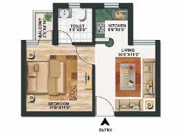 1 Bhk 450 Sq Ft Floor Plan 1 Bhk Duplex House Plans