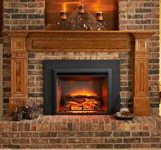 new gallery electric fireplace insert adds instant ambiance