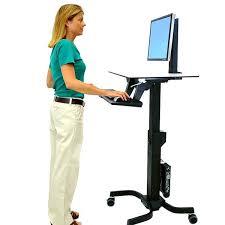 Computer Desk Mobile Attractive Rolling Standing Desk Mobile Desks Computer