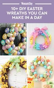 how to make easter wreaths 13 diy easter wreaths to make easter door wreath crafts