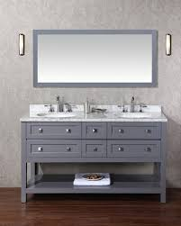 60 bathroom mirror arlanda 60 inch gray double sink bathroom vanity with mirror