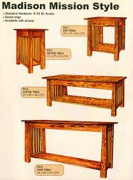 Mission Sofa Table by Amish Crafted Occasional Tables Page 1