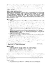 Qa Testing Sample Resume by Qa Tester Resume Manual Testing