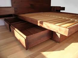 Build Platform Bed Storage Under by Under Bed Storage Ideas Wood Platform Bed Frame With Under Bed