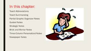 increasing learning by using note taking strategies chloe provance