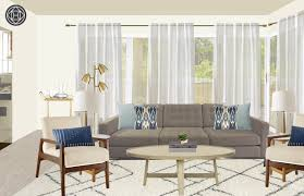modern eclectic midcentury modern living room design by havenly