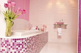girly bathroom ideas bahtroom fresh flower decor on edge bathtub near casual vanity