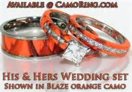 camo wedding band sets camouflage wedding rings 10 blaze orange camo wedding rings