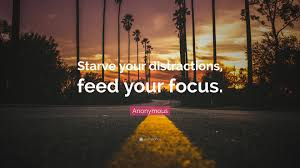 quote distraction anonymous quote u201cstarve your distractions feed your focus u201d 16