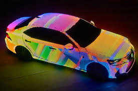 Custom Car Lights Lexus Stuck 42 000 Led Lights On A Car To Create This Dazzling