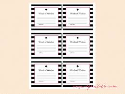 Words Of Wisdom Cards Kate Spade Inspired Bridal Shower Games Magical Printable