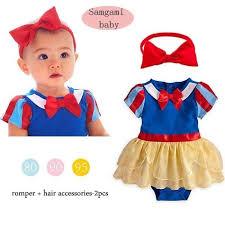 infant girl costumes 2015 snow white princess baby girl costume romper dress headbands