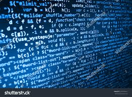 List Of Software by Programming Code Abstract Screen Software Developer Stock Photo
