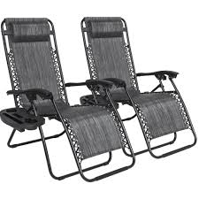 set of 2 zero gravity chairs heathered gray u2013 best choice products