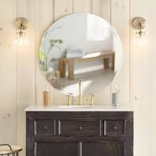 bathroom mirror ideas on wall bathroom mirrors you ll wayfair