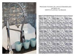tin backsplash as seen on hgtv u0027s flipping the block kitchen