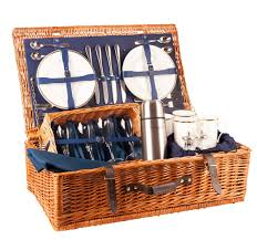 picnic basket for 4 the ascot luxury picnic 4 place settings in blue gifts