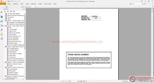 linkbelt all set operating service and maintenance manual auto